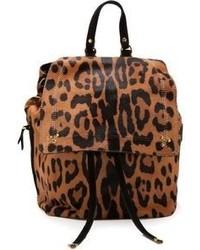 Mochila de leopardo marrón de Jerome Dreyfuss