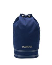 Mochila de lona azul marino de Jacquemus