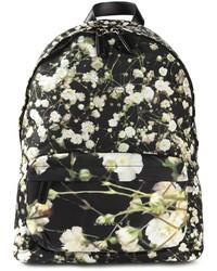 Mochila de Lona Estampada Negra y Blanca de Givenchy