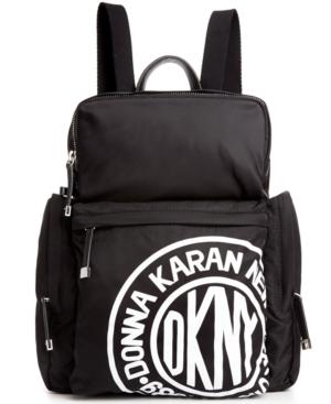 Mochila de Lona Negra de DKNY