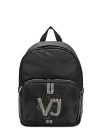 Mochila de lona negra de Versace Jeans