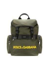 Mochila de lona verde oliva de Dolce & Gabbana