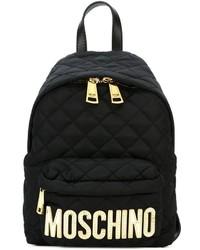 Mochila de nylon acolchada negra de Moschino