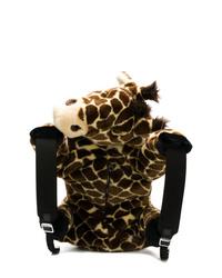 Mochila de pelo de leopardo marrón de Dolce & Gabbana