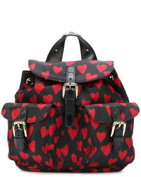 Mochila estampada negra de RED Valentino