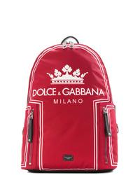 Mochila estampada roja de Dolce & Gabbana
