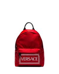 Mochila estampada roja de Versace