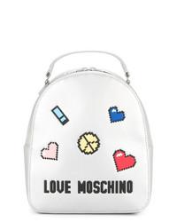 Mochila plateada de Love Moschino