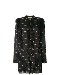 Mono corto estampado negro de Versace Jeans