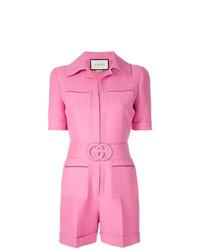 Mono corto rosa de Gucci