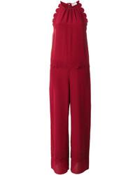 Mono de seda rojo de RED Valentino