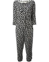 Mono estampado en negro y blanco
