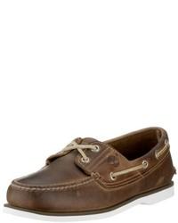 Náuticos de cuero marrónes de Timberland