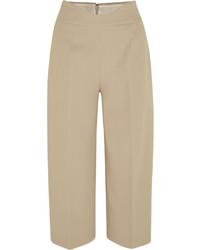 Pantalón capri en beige