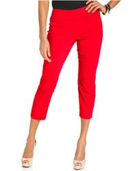 Pantalón capri rojo