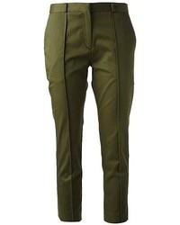 Pantalón capri verde oliva de Victoria Beckham