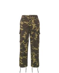 Pantalón cargo de camuflaje verde oliva de Proenza Schouler
