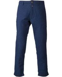 Pantalón chino a lunares azul marino