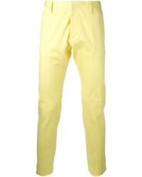 Pantalón chino amarillo de DSQUARED2