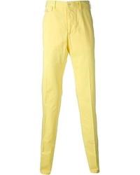 Pantalón chino amarillo de Salvatore Ferragamo