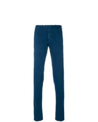 Pantalón chino azul marino de Dell'oglio