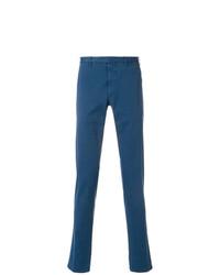 Pantalón chino azul de Dell'oglio