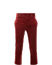 Pantalón chino burdeos de Ann Demeulemeester