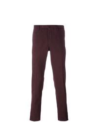 Pantalón chino burdeos de Incotex
