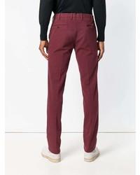 Pantalón chino burdeos de Pt01