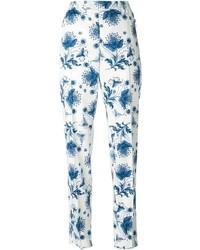 Pantalón chino con print de flores