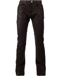 Pantalón chino de cuero negro de Drome