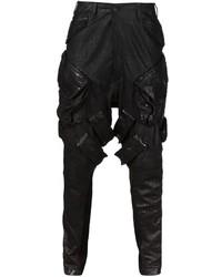 Pantalón chino de cuero negro de Julius