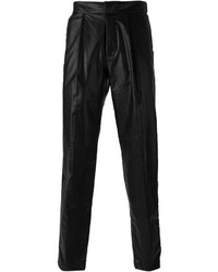 Pantalón chino de cuero negro de MSGM