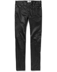 Pantalón chino de cuero