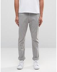 Pantalón chino de espiguilla gris
