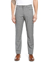 Pantalón chino de lana a cuadros gris