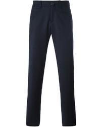 Pantalón chino de lana azul marino de Lardini