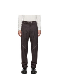 Pantalón chino de lana burdeos