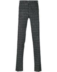 Pantalón chino de lana en gris oscuro de Canali