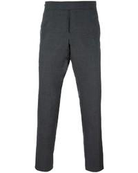Pantalón chino de lana en gris oscuro de Thom Browne