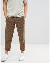 Pantalón chino de lana marrón