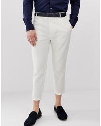 Pantalón chino de lino blanco