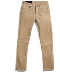 Pantalón chino de pana marrón claro