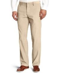 Pantalón chino de pana marrón claro de Haggar