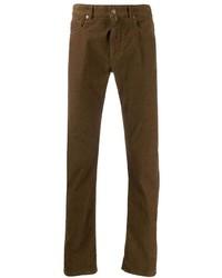 Pantalón chino de pana marrón de Incotex