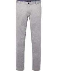 Pantalón chino de punto gris