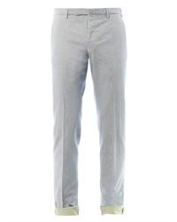 Pantalón chino de rayas verticales en beige