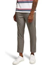 Pantalón chino de rayas verticales gris