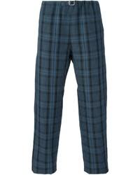 Pantalón chino de tartán azul marino de Paul Smith