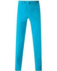 Pantalón chino en turquesa